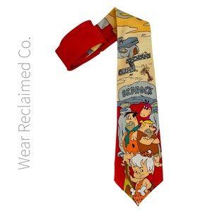 Vintage 90's Flintstones Bedrock Boy's Neck Tie